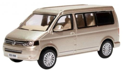 Volkswagen T5 1/76 Oxford Camper metallico beige miniatura