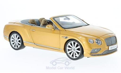 Bentley Continental T 1/18 Paragon GT Convertible gold 2016 miniature