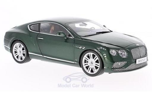 Bentley Continental T 1/18 Paragon G verte 2016 miniature