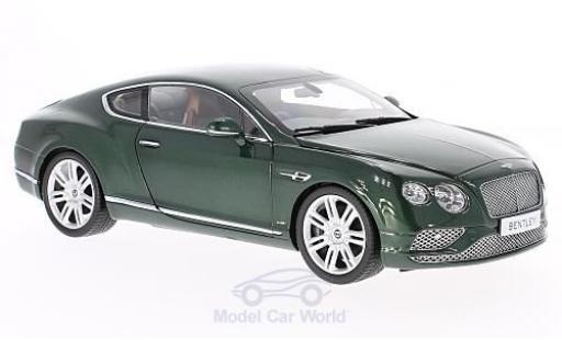 Bentley Continental T 1/18 Paragon G verde RHD 2016 modellino in miniatura