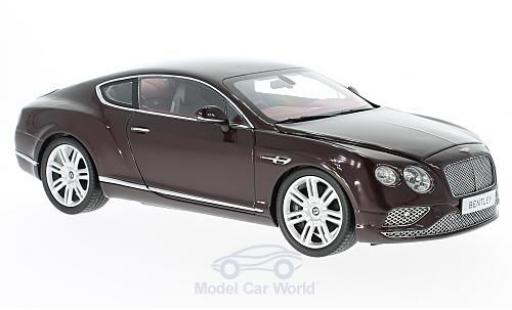 Bentley Continental T 1/18 Paragon G rouge RHD 2016 miniature