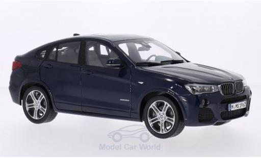 Bmw X4 1/18 Paragon metallise bleue miniature