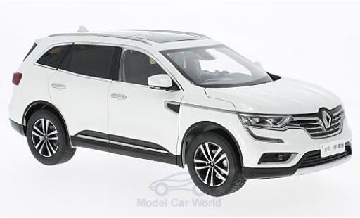 Renault Koleos 1/18 Paudi blanche 2016 ohne Vitrine miniature