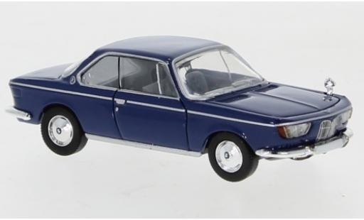 Bmw 2000 1/87 PCX87 CS azul 1965 coche miniatura
