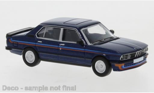 Bmw M535 1/87 PCX87 i (E12) metallise bleue 1980 miniature