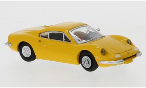 Ferrari Dino 1/87 PCX87 246 GT yellow 1969 diecast model cars