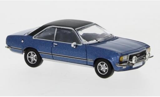 Opel Commodore 1/87 PCX87 B Coupe metallise bleue/matt-noire 1972 miniature