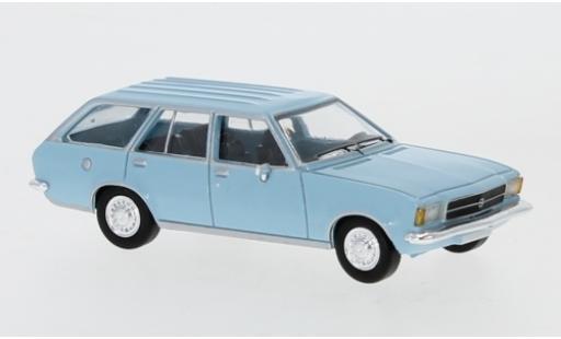 Opel Rekord 1/87 PCX87 D Caravan bleue 1972 miniature
