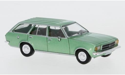 Opel Rekord 1/87 PCX87 D Caravan metallise verte 1972 miniature