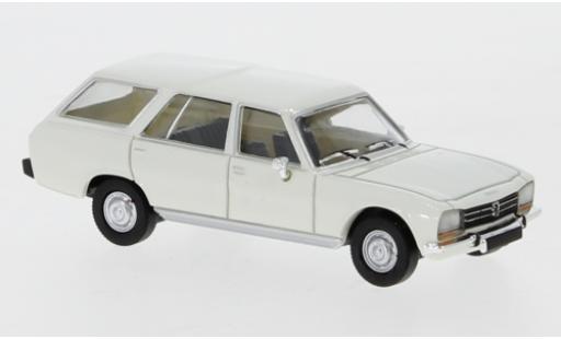 Peugeot 504 1/87 PCX87 Break blanco 1978 coche miniatura