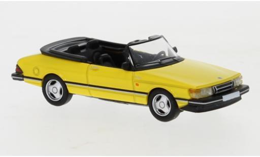 Saab 900 1/87 PCX87 Cabriolet jaune 1986 miniature