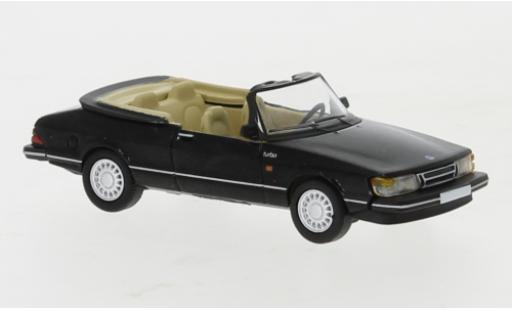 Saab 900 1/87 PCX87 Cabriolet noire 1986 miniature