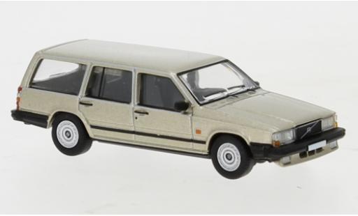 Volvo 740 1/87 PCX87 Kombi metallise beige 1985 miniature