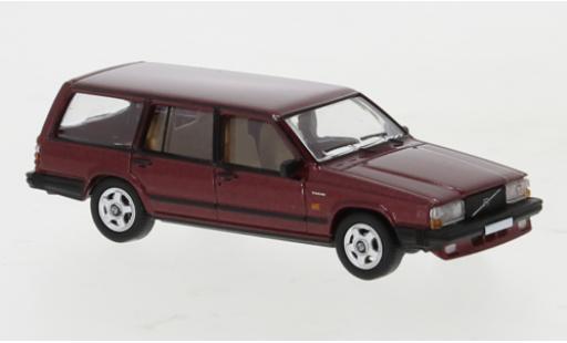 Volvo 740 1/87 PCX87 Kombi metallise rouge 1985 miniature