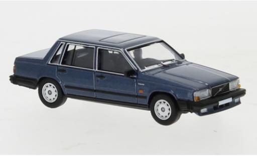 Volvo 740 1/87 PCX87 metallise bleue 1984 miniature