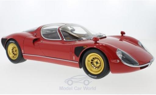 Alfa Romeo T33 1/18 Premium ClassiXXs Tipo 33 Stradale rouge 1967 mit goldenen Felgen miniature