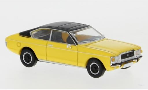 Ford Granada 1/87 Premium ClassiXXs MK I Coupe jaune/matt-noire 1974 miniature