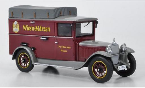 Mercedes L1000 1/43 Premium ClassiXXs Express Postbrauerei Weiler avec Dachplane miniature