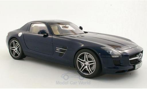Mercedes SLS 1/12 Premium ClassiXXs AMG (C197) metallic-dunkelbleue miniature