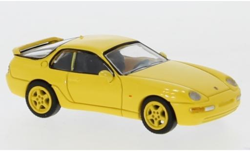 Porsche 968 1/87 Premium ClassiXXs jaune 1991 miniature