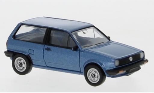 Volkswagen Polo 1/87 Premium ClassiXXs II metallise bleue 1985 miniature