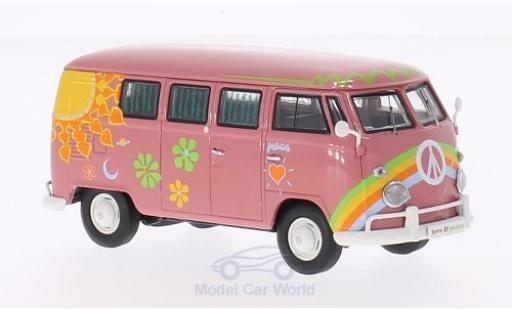 Volkswagen T1 B 1/43 Premium ClassiXXs Bus dunkelrose Flower Power miniature