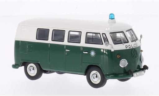 Volkswagen T1 1/43 Premium ClassiXXs verde/blanco Polizei bus coche miniatura