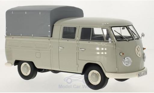 Volkswagen T1 B 1/18 Premium ClassiXXs grise 1960 Doppelkabine mit Plane miniature