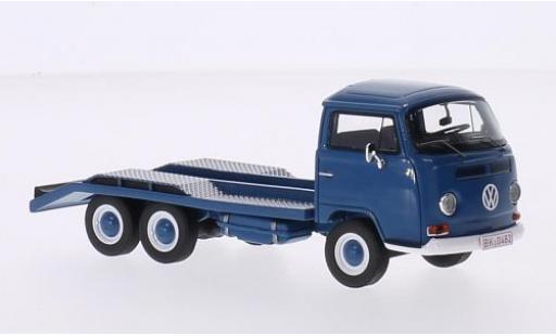 Volkswagen T2 1/43 Premium ClassiXXs a Autotransporter blue diecast model cars