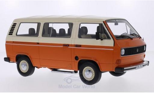 Volkswagen T3 B 1/18 Premium ClassiXXs Bus orange/beige miniature