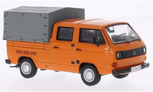 Volkswagen T3 1/43 Premium ClassiXXs a Doka Pritsche orange miniature