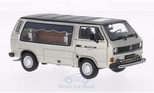 Volkswagen T3 B 1/43 Premium ClassiXXs a Kasten grise/matt-noire Weinberger Schalksmühle Bestattungswagen miniature