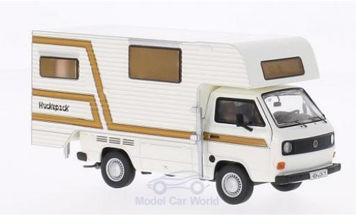 Volkswagen T3 B 1/43 Premium ClassiXXs a Pritsche Tischer-Camping blanche/marron miniature