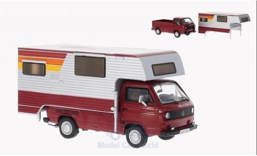 Volkswagen T3 B 1/43 Premium ClassiXXs a Pritschenwagen rouge/grise Tischer-Camping mit abnehmbaren Aufbau miniature