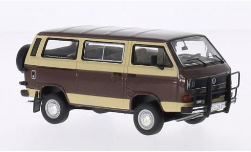 Volkswagen T3 1/43 Premium ClassiXXs b braun/beige Caravelle Syncro modellautos