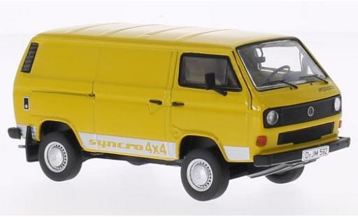 Volkswagen T3 1/43 Premium ClassiXXs b Kasten jaune Syncro (4x4 Schriftzug) miniature
