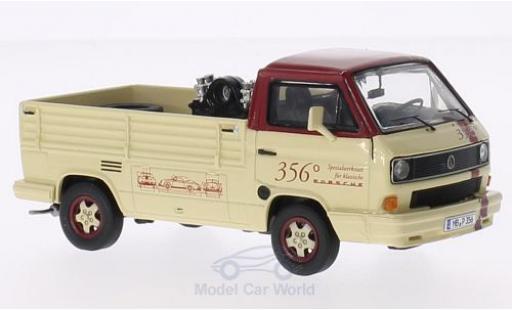 Volkswagen T3 B 1/43 Premium ClassiXXs b Pritsche 356 Spezialwerkstatt mit Ladegut: Porsche-Motor 356 + 2 Reifen miniature