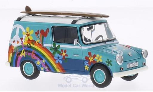 Volkswagen Typ 147 1/43 Premium ClassiXXs Fridolin turquoise/blanche mit Surfboards miniature