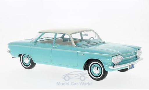 Chevrolet Corvair 1/18 Premium X Sedan turquoise/beige 1961 4-door miniature