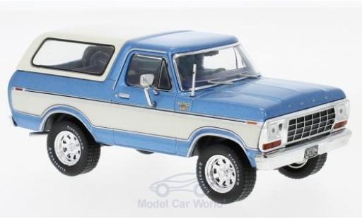 Ford Bronco 1/43 Premium X metallic-bleue/blanche 1978 miniature