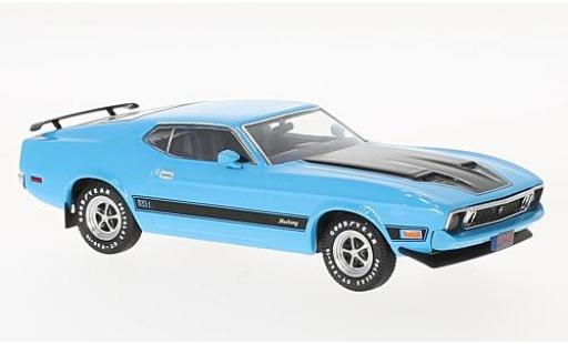 Ford Mustang 1/43 Premium X Mach 1 blue/black 1973 with Spoilers diecast model cars