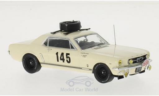 Ford Mustang 1/43 Premium X No.145 Equipe France Rallye Monte-Carlo 1966 H.Chemin/J-L.Trintignant miniature