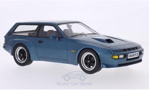 Porsche 924 1981 1/18 Premium X Turbo Kombi Artz metallise bleue miniature