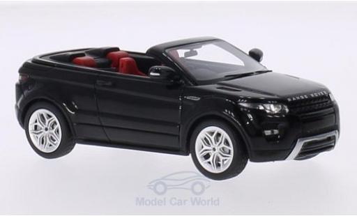 Range Rover Evoque 1/18 Premium X Convertible métallisé noire RHD 2012 Autosalon Genf Verdeck geöffnet miniature