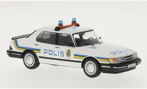 Saab 900 1/43 Premium X i Stockholm Polis 1987 miniature