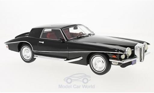 Stutz Blackhawk 1/18 Premium X Coupe noire 1971 miniature