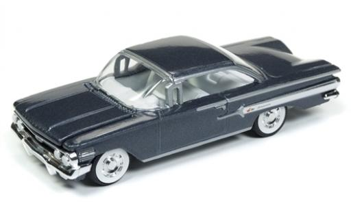 Chevrolet Impala 1/64 Racing Champions Mint metallise grise 1960 miniature