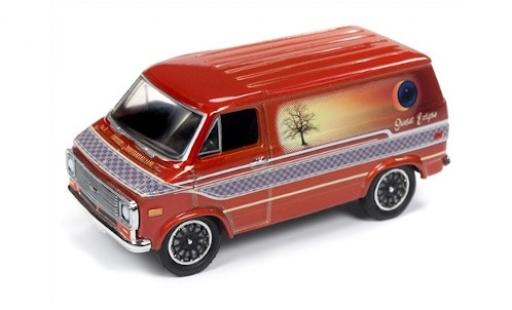 Chevrolet Van 1/64 Racing Champions Mint metallise orange/Dekor 1975 miniature