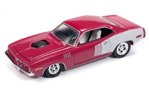 Plymouth Barracuda 1/64 Racing Champions Mint rose/blanche 1971 miniature