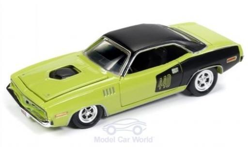 Plymouth Barracuda 1/64 Racing Champions Mint verte/noire 1971 miniature